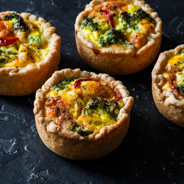 A meal for Strong Bones: Broccoli, Ham and Cheddar Quiche