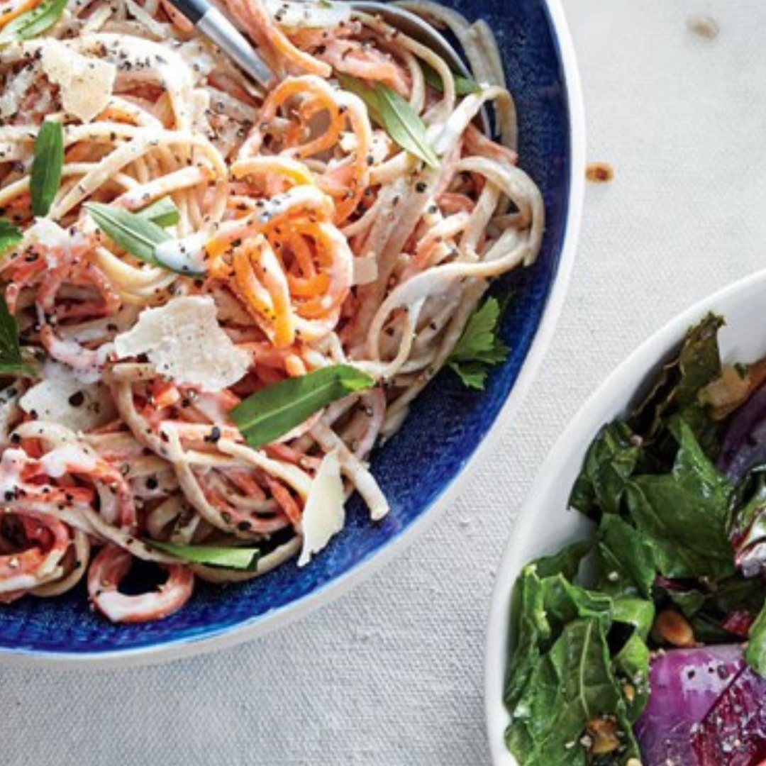 Creamy Carrot and Herb Linguine