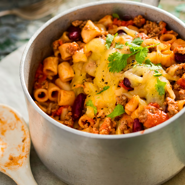 Chilli Cheese Macaroni (Holiday Edition)