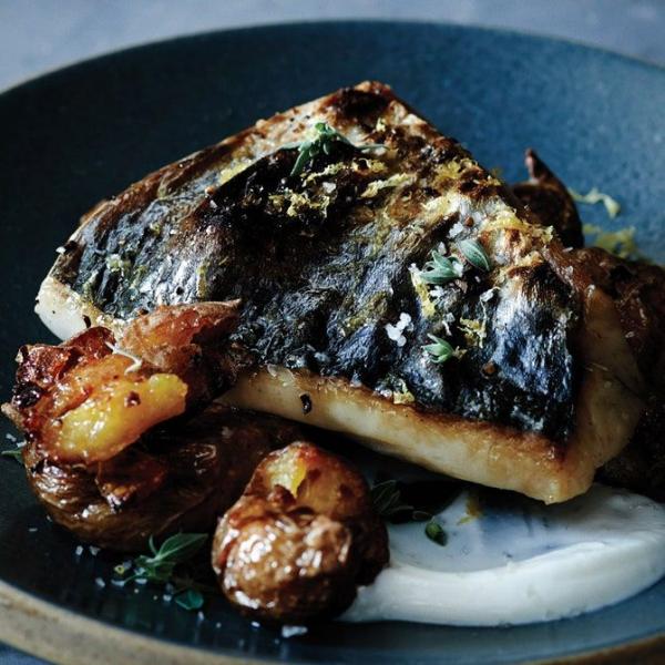 Mackerel with Crushed Potatoes